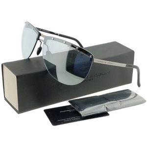 P8577-B Aviator Women's Grey Frame Sunglasses